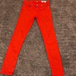 Orange Rag & Bone Skinny Jeans
